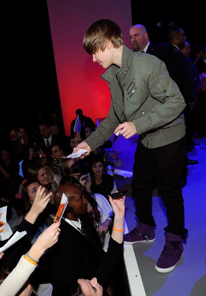 Musician Justin Bieber attends the 2010 Nickelodeon Upfront Presentation at Hammerstein Ballroom on March 11, 2010 in New York City.
