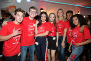 (L-R) Actors Ricardo Hurtado, Aidan Miner, Lilimar, Savannah May, Lexi DiBenedetto, Amarr M. Wooten, The Salvation Army Southern California Divisional Headquarters Director of Entertainment Industry Relations Anthony Begonia, and Daniella Perkins attend The Salvation Army Feast of Sharing presented by Nickelodeon at Casa Vertigo on November 21, 2017 in Los Angeles, California.