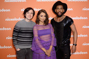 (L-R) Josh Brener, Kat Graham and Brandon Mychal Smith attend the Nickelodeon Upfront 2018 at Palace Theatre on March 6, 2018 in New York City.