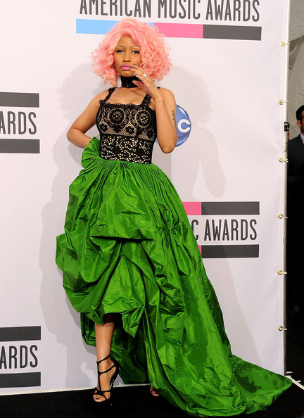 Nicki Minaj Singer/rapper Nicki Manaj, winner of Favorite Rap/Hip-Hop Artist and Favorite Rap/Hip-Hop Album poses in the press room at the 2011 American Music Awards held at Nokia Theatre L.A. LIVE on November 20, 2011 in Los Angeles, California.