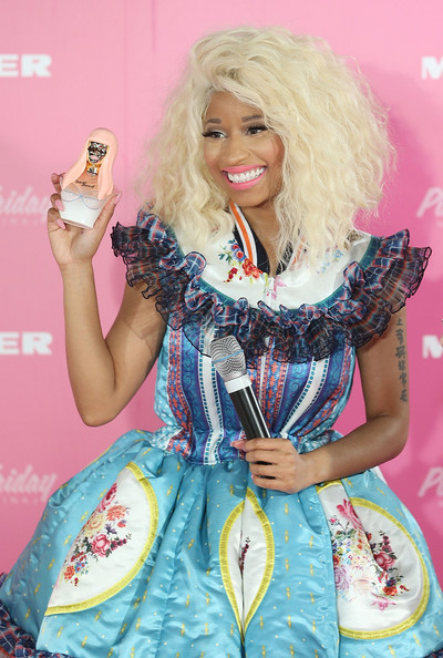 Nicki Minaj poses during an event to celebrate the launch of her new perfume at Myer Sydney City on November 29, 2012 in Sydney, Australia.