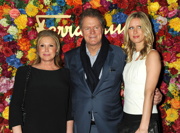 L'Icona Highlighting Launches in NYC [ferragamo celebrates the launch of licona highlighting the 35th anniversary of vara,sleep no more,event,floral design,fun,floristry,flower,plant,smile,flower arranging,art,nicky hilton,kathy hilton,rick hilton,l-r,the mckittrick hotel,new york city]