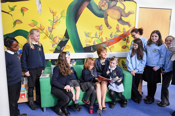 Nicola Sturgeon Scotland's First Minister Announces Further Expansion Of Her Reading Challenge