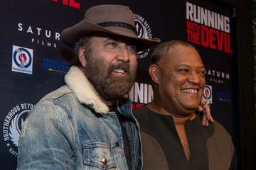 Nicolas Cage Premiere Of Quiver Distribution's 'Running With The Devil' - Red Carpet