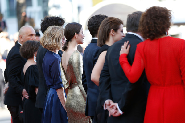 'From the Land and the Moon (Mal De Pierres' - Red Carpet Arrivals - The 69th Annual Cannes Film Festival [people,red,red carpet,event,fashion,carpet,premiere,crowd,flooring,dress,nicole garcia,marion cotillard,alex brendemuhl,brigitte rouan,louis garrel,mal de pierres,land,moon,red carpet arrivals,cannes film festival]