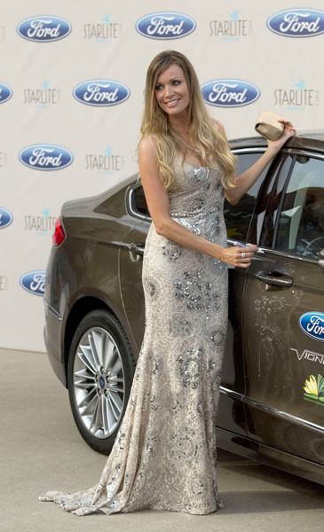 Guests Attend the Starlite Gala in Marbella [vehicle,car,auto show,automotive design,luxury vehicle,beauty,dress,personal luxury car,mid-size car,flooring,nicole kimpel,starlite gala,marbella,spain]