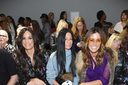 (L-R) Veronica Webb, Helen Lee Schifter and Kelly Killoren Bensimon attend the Nicole Miller front row during New York Fashion Week: The Shows at Gallery II at Spring Studios on February 7, 2019 in New York City.
