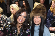Veronica Webb and Helen Lee Schifter attend the Nicole Miller front row during New York Fashion Week: The Shows at Gallery II at Spring Studios on February 7, 2019 in New York City.