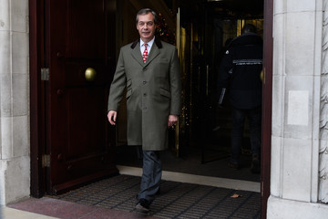 Nigel Farage Activity in Westminster as Brexit Breakthrough Announced