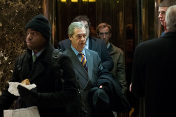 Nigel Farage President-Elect Donald Trump Holds Meetings At Trump Tower