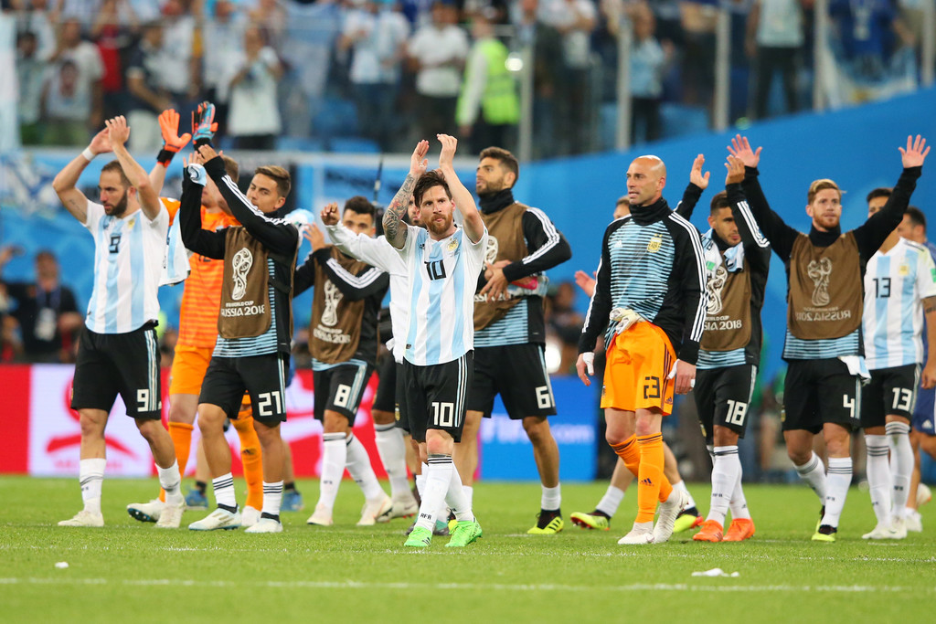 lionel messi angel di maria photos nigeria vs argentina
