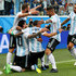 Lionel Messi Gonzalo Higuain Photos - Lionel Messi of Argentina celebrates with teammates after scoring his team's first goal during the 2018 FIFA World Cup Russia group D match between Nigeria and Argentina at Saint Petersburg Stadium on June 26, 2018 in Saint Petersburg, Russia. - Nigeria Vs. Argentina: Group D - 2018 FIFA World Cup Russia