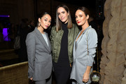 "(L-R) Cara Santana, Louise Roe, and Catt Sadler attend the ""I Am the Night"" Influencer Junket on January 23, 2019 in Los Angeles, California. 484192."