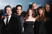 """(L-R) Leland Orser, Yul Vazquez, India Eisley, Sam Sheridan,Patty Jenkins, and Connie Nielsen attend the """"I Am the Night"""" Premiere at Metrograph on January 22, 2019 in New York City. 484171"""
