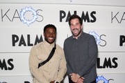 Former NFL players Reggie Bush (L) and Matt Leinart attend the grand opening of KAOS Dayclub & Nightclub at Palms Casino Resort on April 05, 2019 in Las Vegas, Nevada.