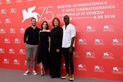 Sam Claflin, Aisling Franciosi, Jennifer Kent and Baykali Ganambarr attend 'The Nightingale' photocall during the 75th Venice Film Festival at Sala Casino on September 6, 2018 in Venice, Italy.