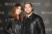 Actress Heather McDonald (L) and recording artist Lance Bass attend Nights of the Jack Halloween Activation Launch Party at the King Gillette Ranch on October 10, 2018 in Calabasas, California.