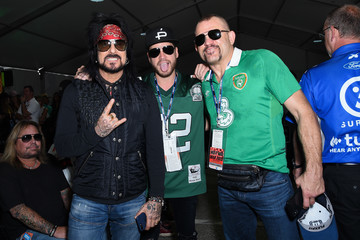 Nikki Sixx Celebrities At The Monster Energy NASCAR Cup Series Race At Auto Club Speedway