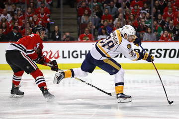 Niklas Hjalmarsson Nasvhille Predators v Chicago Blackhawks - Game Two