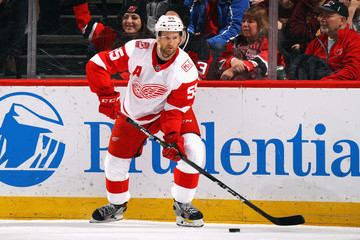 Niklas Kronwall Detroit Red WIngs v New Jersey Devils