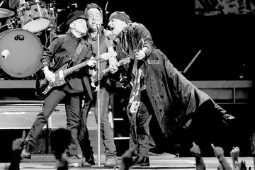 Nils Lofgren Bruce Springsteen and the E Street Band Performs at Los Angeles Sports Arena