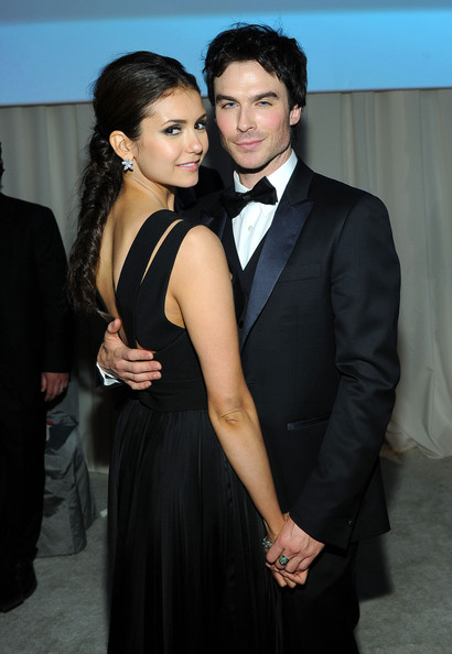 Nina Dobrev and Ian Somerhalder at 20th Elton John Oscar Viewing Party
