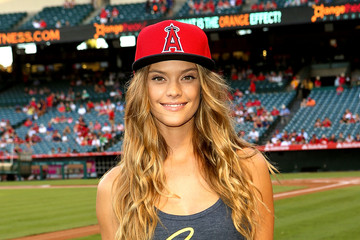 Nina Agdal Nina Agdal Celebrates the Opening of the New Era Cap Store at Angel Stadium