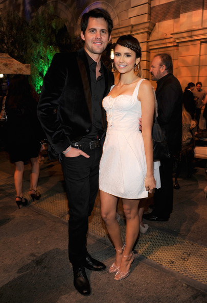 Nina Dobrev Kristoffer Polaha and Nina Dobrev attend the CW launch party presented by Bing at Warner Bros. Studios on September 10, 2011 in Burbank, California.