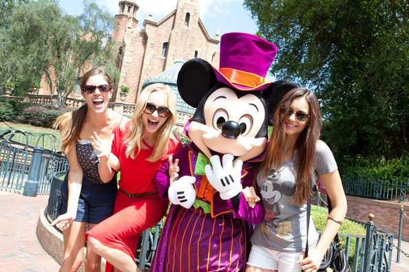 Nina Dobrev - Vampire Diaries Stars Get Ready For Halloween At Disney World In Florida