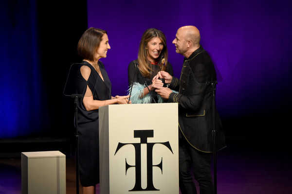 2017 Fragrance Foundation Awards Presented by Hearst Magazines - Show [event,speech,award ceremony,award,performance,public speaking,talent show,convention,stage,conversation,anne fulenwider,john varvaots,nina garcia,fragrance foundation awards,stage,2017 fragrance foundation awards,alice tully hall,new york city,hearst magazines,show]