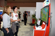 Dylan Sprouse and Cole Sprouse play Mario + Rabbids Kingdom Battle the Nintendo booth at the 2017 E3 Gaming Convention at Los Angeles Convention Center on June 13, 2017 in Los Angeles, California.