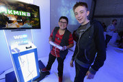 Rico Rodriguez and Dylan Riley Snyder attend the Nintendo Hosts Wii U Experience In Los Angeles on September 20, 2012 in Los Angeles, California.