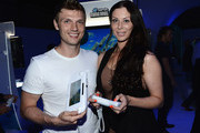 Nick Carter (L) and guest attend the Nintendo Hosts Wii U Experience In Los Angeles on September 20, 2012 in Los Angeles, California.