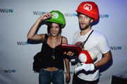 Zelda Williams and Keegan Allen attend the Nintendo Hosts Wii U Experience In Los Angeles on September 20, 2012 in Los Angeles, California.