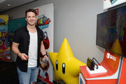 "Matt Lanter of the television series ""Timeless"" stopped by Nintendo at the TV Insider Lounge to check out Nintendo Switch during Comic-Con International at Hard Rock Hotel San Diego on July 20, 2017 in San Diego, California."