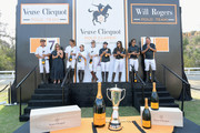 Award ceremony at the Ninth-Annual Veuve Clicquot Polo Classic Los Angeles at Will Rogers State Historic Park on October 6, 2018 in Pacific Palisades, California.