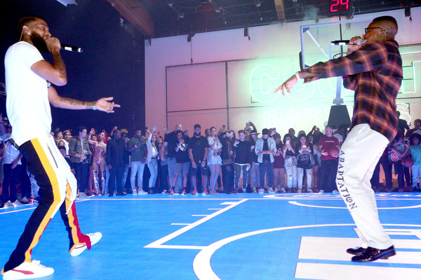 EA SPORTS NBA Live 19 [performance,dance,event,performing arts,dancer,talent show,sports,stage,hip-hop dance,choreography,nipsey hussle,california,los angeles,ea sports,l,yg,goya studios,nba live]