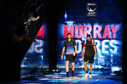 Jamie Murray of Great Britain and Bruno Soares of Brazil walk out onto the court ahead of their match against Henri Kontinen of Finland and John Peers of Australia during Day Five of the Nitto ATP Finals at The O2 Arena on November 15, 2018 in London, England.