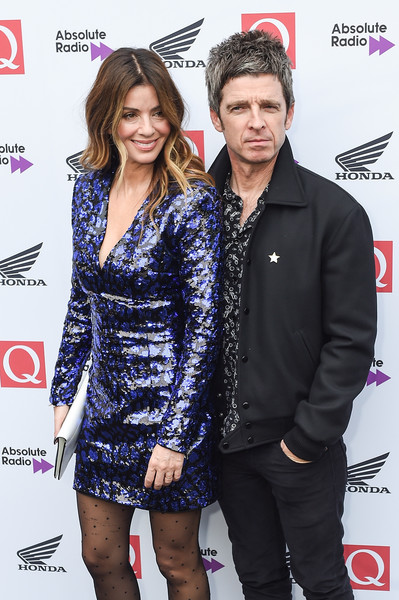 Q Awards 2018 - Red Carpet Arrivals [event,carpet,premiere,cocktail dress,fashion accessory,flooring,red carpet,style,fashion design,sara macdonald,noel gallagher,q awards,england,london,the roundhouse,red carpet arrivals]