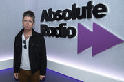Noel Gallagher poses for a photo during a visit to Absolute Radio on April 29, 2019 in London, England.