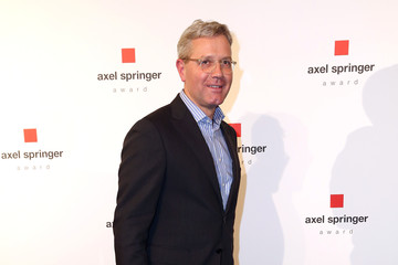 Norbert Roettgen Mark Zuckerberg Awarded With Axel Springer Award in Berlin