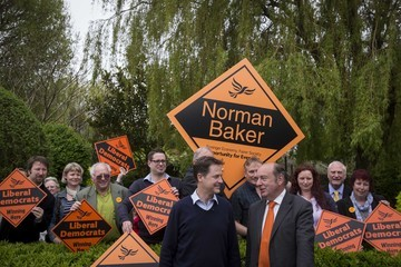 Norman Baker Nick Clegg Campaigns in Bermondsey, Lewes And Maidstone