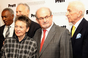 (L-R)  Francis Holloway, Gary Hattem, Laurie Anderson, Salman Rushdie and Gay Talese attend the Norman Mailer Center 7th Annual Awards ceremony and celebration at Pratt Institute on December 10, 2015 in New York City.