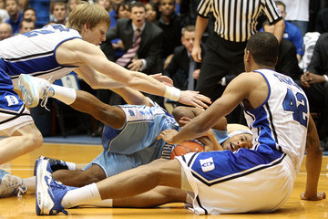 Kyle Singler Lance Thomas North Carolina v Duke