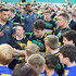 Ben Foden Photos - Ben Foden of Northampton Saints signing autographs for the fans after the Aviva Premiership match between Northampton Saints and Worcester Warriors at Franklin's Gardens on May 5, 2018 in Northampton, England. - Northampton Saints vs. Worcester Warriors - Aviva Premiership