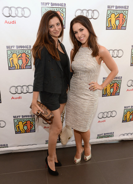 Celebs at the Best Buddies Poker Event [clothing,cocktail dress,dress,fashion,event,premiere,footwear,leg,carpet,long hair,noureen dewulf,lacey chabert,best buddies poker event,audi beverly hills,california]