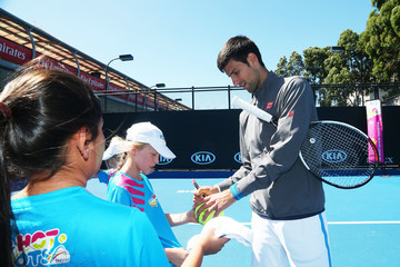 Novak Djokovic Off Court at the 2017 Australian Open
