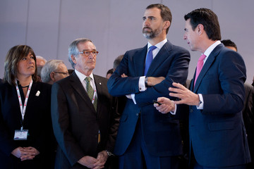Nuria Marin Prince Felipe of Spain Attends Mobile World Congress 2013 Opening