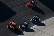 Ty Dillon, driver of the #3 Bass Pro Shops Chevrolet, leads a pack of cars during the NASCAR Nationwide Series O'Reilly Auto Parts Challenge at Texas Motor Speedway on November 1, 2014 in Fort Worth, Texas.