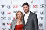 Laura Hamilton (L) and Alex Goward attend OK! Magazine's 25th Anniversary Party at The View from The Shard on March 21, 2018 in London, England.